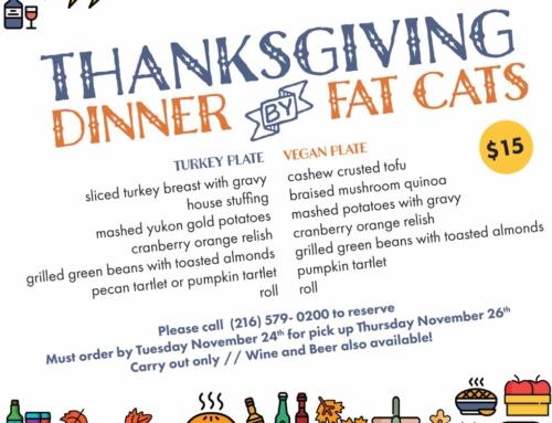 Thanksgiving Dinner at Fat Cats