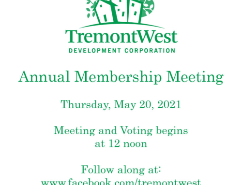 Tremont West Announces Annual Membership Meeting